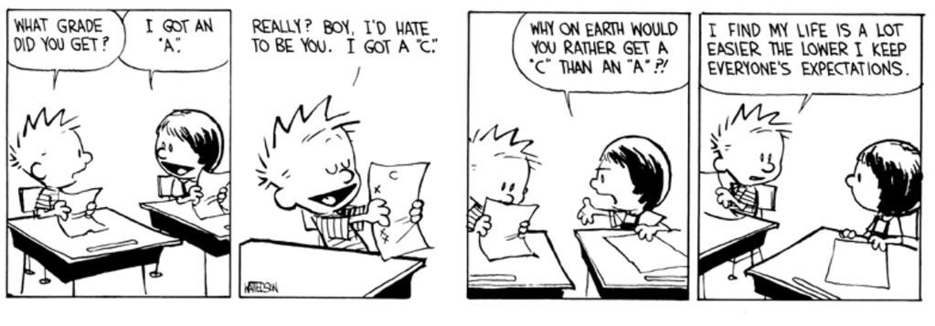 Calvin & Hobbes- Low Expecations